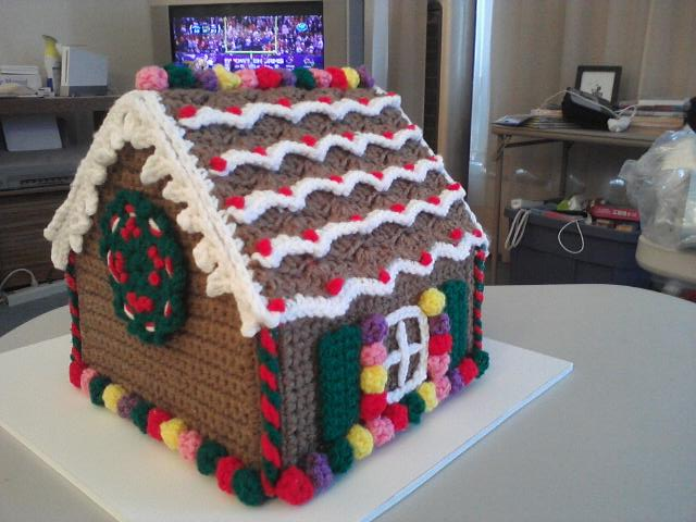 gingerbread house � completely crocheted lofthus